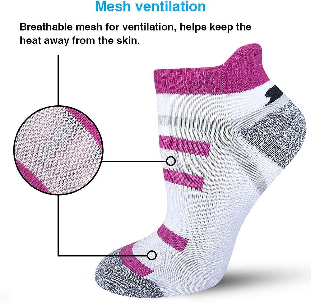 BERING Women's Performance Athletic Running Socks (6 Pack): Clothing