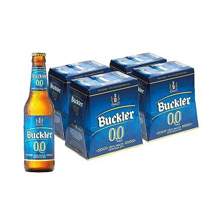 Buckler 00 Cerveza - 4 Packs de 6 Botellas x 250 ml - Total: 6