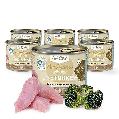 Comida Húmeda para Gatos Sin Cereales | 97% Carne de Pavo Jugoso con Brócoli Fine