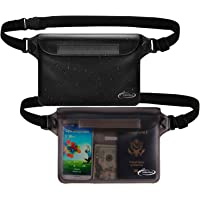 AiRunTech Waterproof Pouch with Waist Strap (2 Pack) | Beach Accessories Best Way to Keep Your Phone and Valuables Safe…