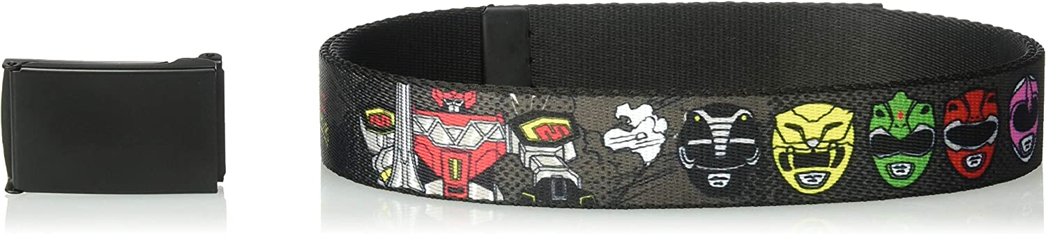 Wide-Fits up to 42 Pant Size Multicolor Buckle-Down Mens Web Belt Power Rangers 1.25