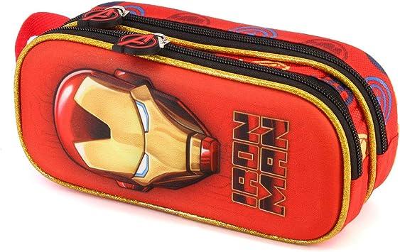 Karactermania Iron Man Armour-3D Doppelfedermäppchen Estuches 22 Centimeters Rojo (Red): Amazon.es: Equipaje