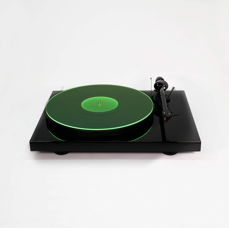Acrylic Turntable Mat   GreenLit   LP Slipmat Hudson Hi-Fi EDSM-E39CW5KL5QZL8S