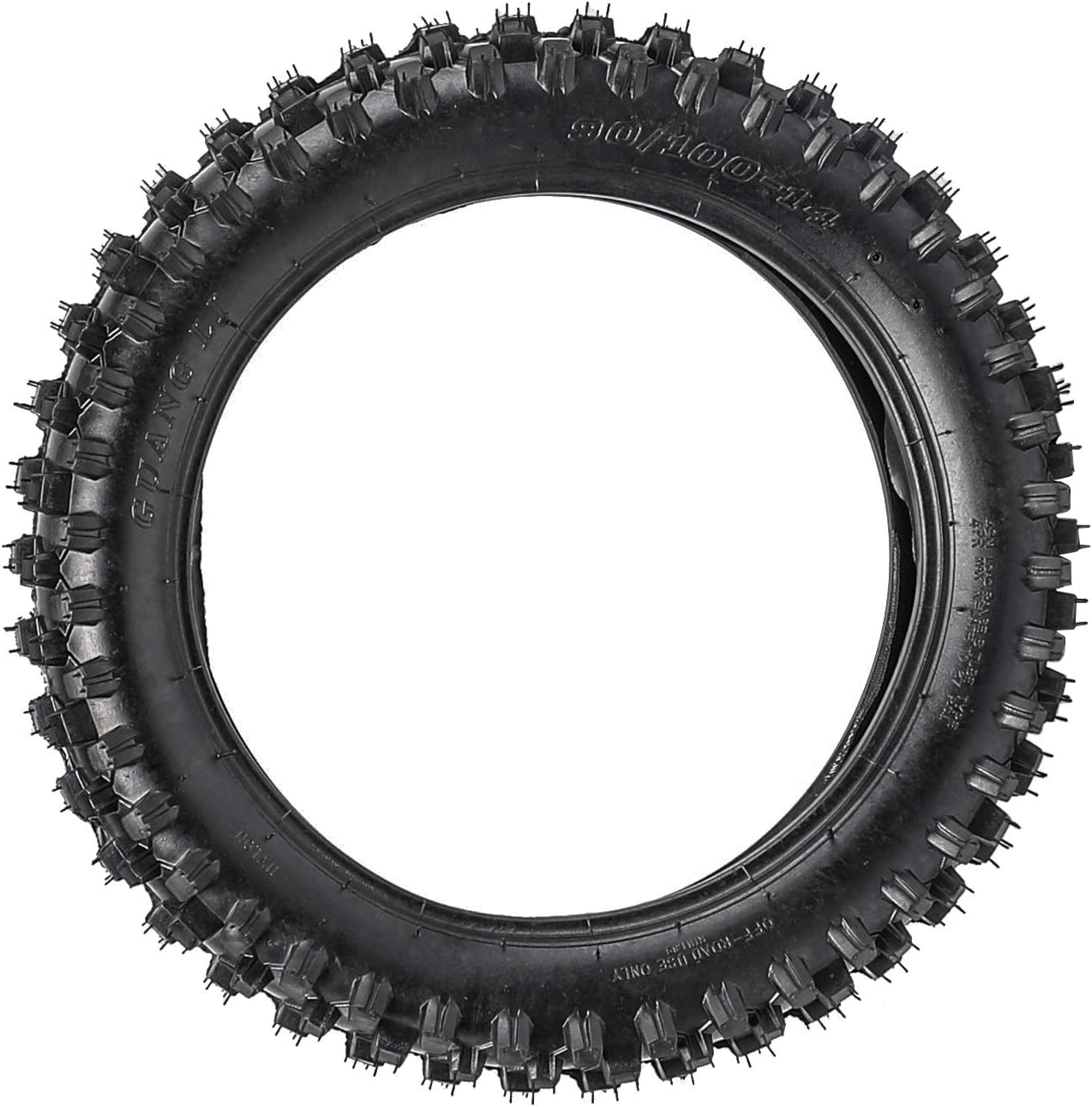 Off Road Motorcycle Tires JCMOTO Motocross Tire and Inner Tube kit 90//100-14 For Pit PRO Trail Dirt Bike