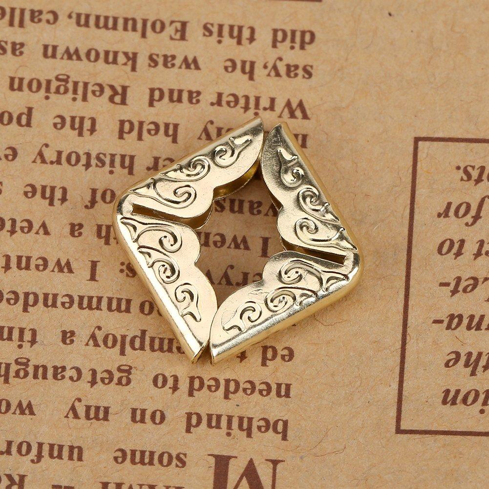 100pcs Book paraspigoli , Acogedor ferro vintage angolo Protector per Scrapebooking vintage photo album diario bronzo