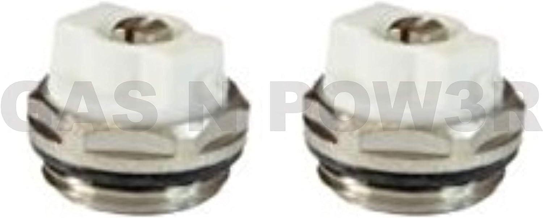 1,27 cm BSP de alta calidad V/álvula de purga manual para radiador 2 unidades