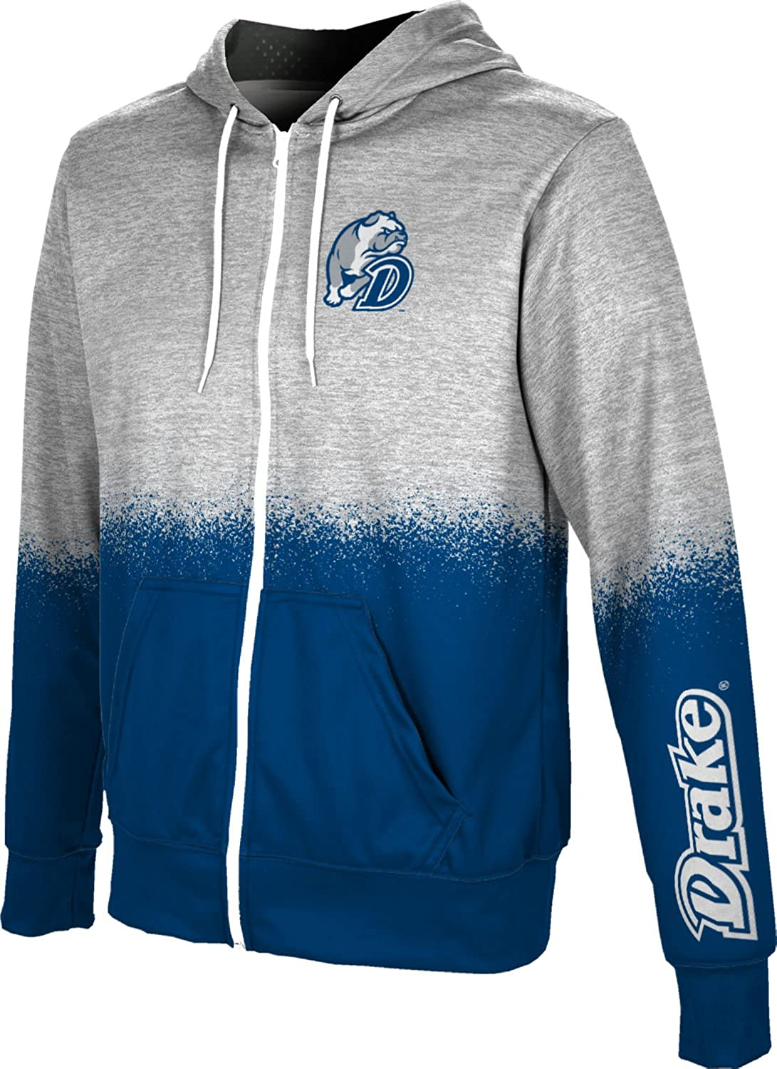ProSphere Drake University Boys Full Zip Hoodie Spray Over