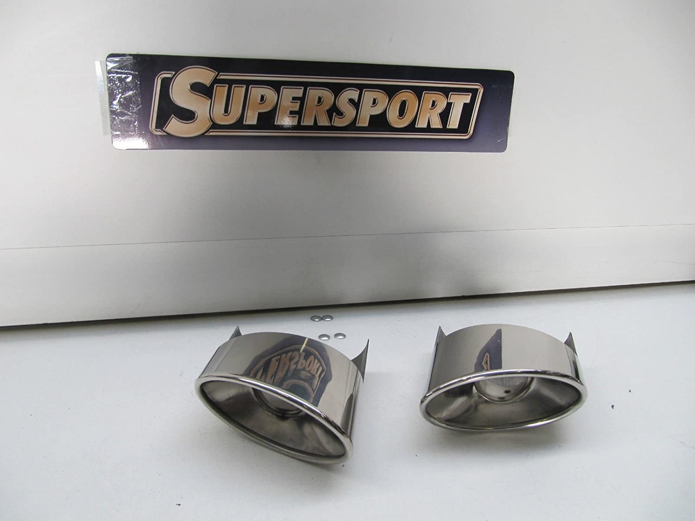 Supersport 2 X 92x157mm Ovale Seitlich Abgeschrägt Rs6 Optik Edelstahl Endrohre Mit Abe Auto