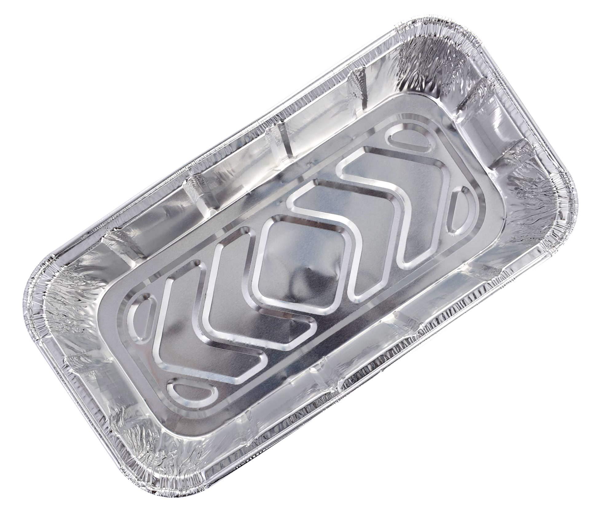 DOBI (50 Pack) Loaf Pans - Disposable Aluminum Foil 2Lb Bread Tins, Standard Size - 8.5'' X 4.5'' X 2.5'' by DOBI (Image #4)
