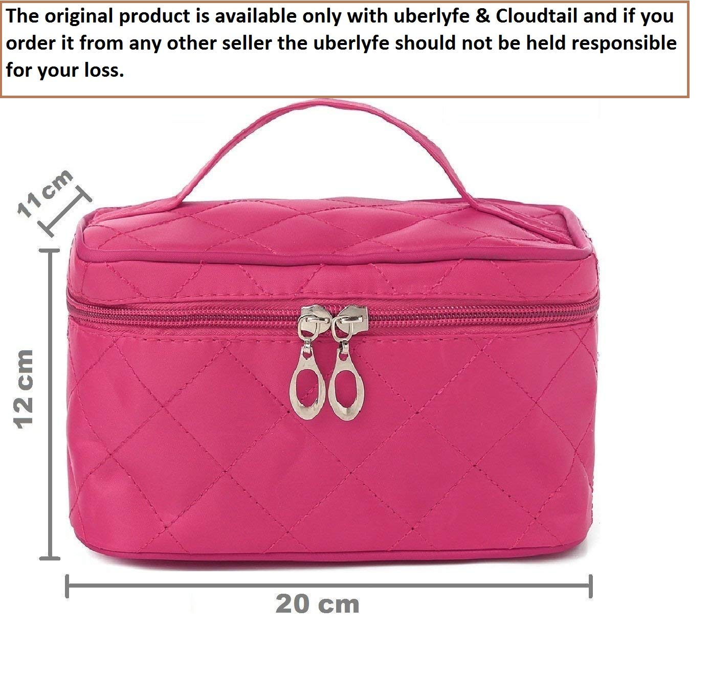Buy Uberlyfe Cosmetic Bag Travel Organizer With Cosmetic Pouch, Pink Online  at Low Prices in India - Amazon.in 0ce6907b1a