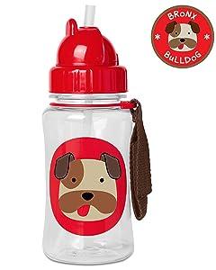 Skip Hop 212528 Zoo Winter Straw Bottle - Bulldog