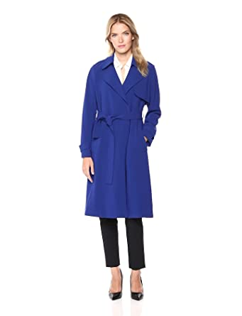 13eb1971a7 Amazon.com: Theory Women's Belted Oaklane Trench Coat: Clothing