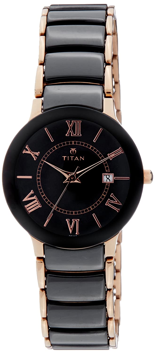 Buy Titan Ceramic Analog Black Dial Women S Watch Nl95016wd01 Nl95016wd01 Online At Low Prices In India Amazon In