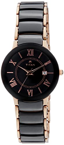 be7cf794899 Image Unavailable. Image not available for. Colour  Titan Ceramic Analog Black  Dial Women s Watch ...