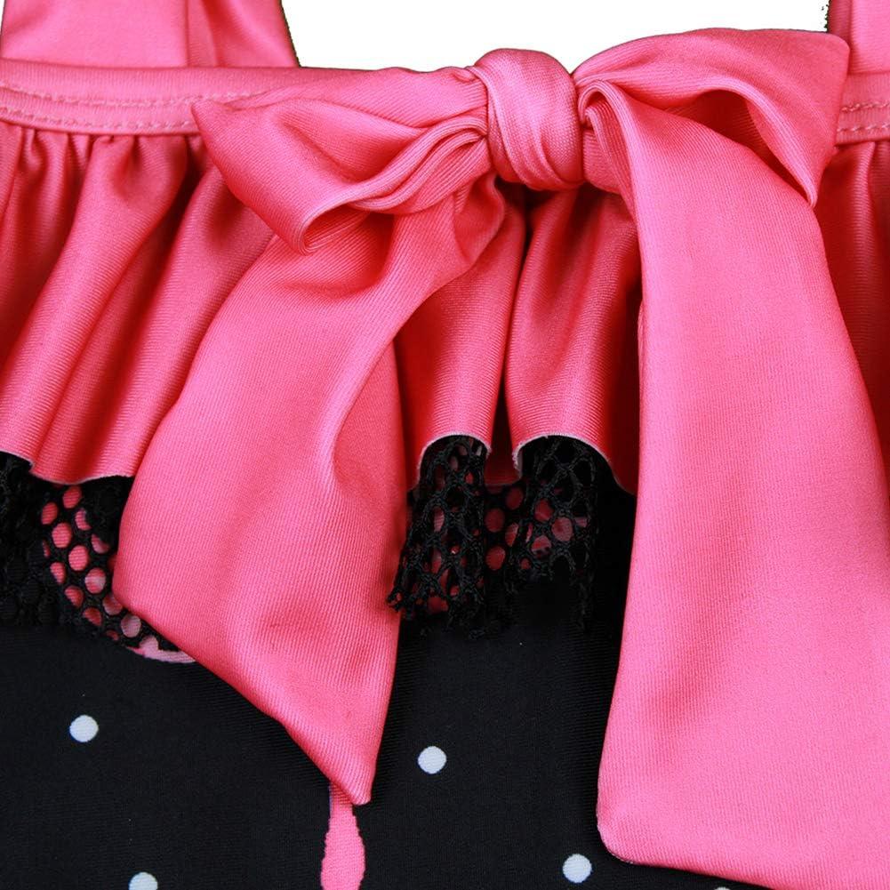 SXSHUN Costume da Bagno Bambina Stampa di Fenicottero Costumi Interi Raggaza 2-7 Anni