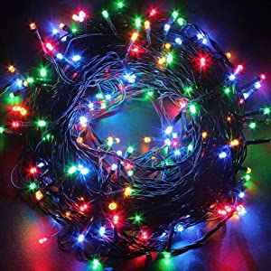 Twinkle Star 200 LED 66FT Fairy String Lights,Christmas Lights with 8 Lighting Modes,Mini String Lights Plug in for Indoor Outdoor Christmas Tree Garden Wedding Party Decoration, Multicolor