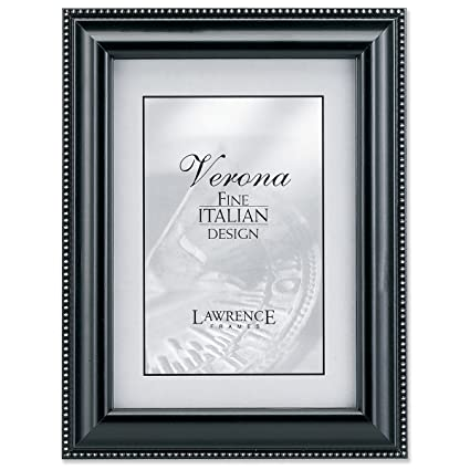 Amazon.com - Lawrence Frames Black Wood 4x6 Picture Frame - Silver ...