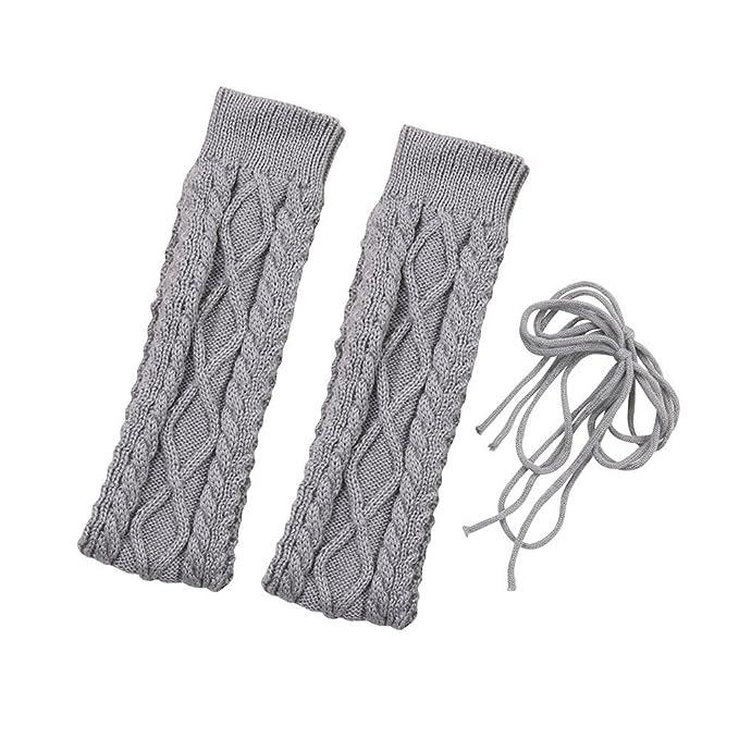 DOGZI Mujer Otoño invierno Color sólido Medias de lana Calcetines altos Medias Tubo alto Calcetines encima de la rodilla Calcetines Muslo Largo Algodón ...