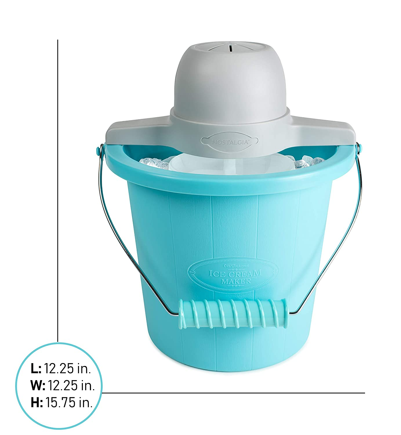 db8fcad7e636 Buy Nostalgia Electrics 4-Quart Electric Ice Cream Maker, Blue Online at  Low Prices in India - Amazon.in