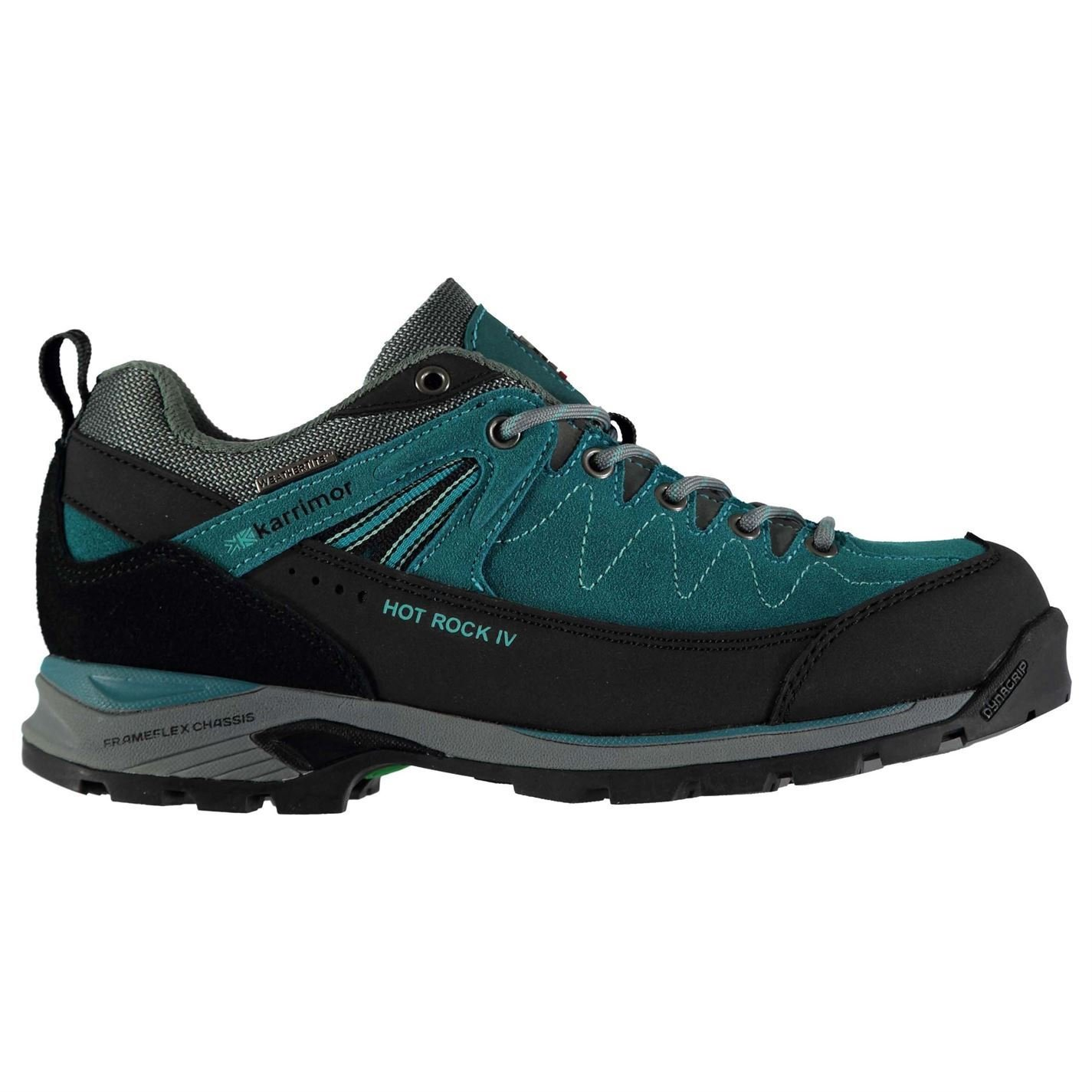 Karrimor Womens Hot Rock Low Walking Shoes Lace up Padded B078WTBT6D UK 7 (41)|Teal