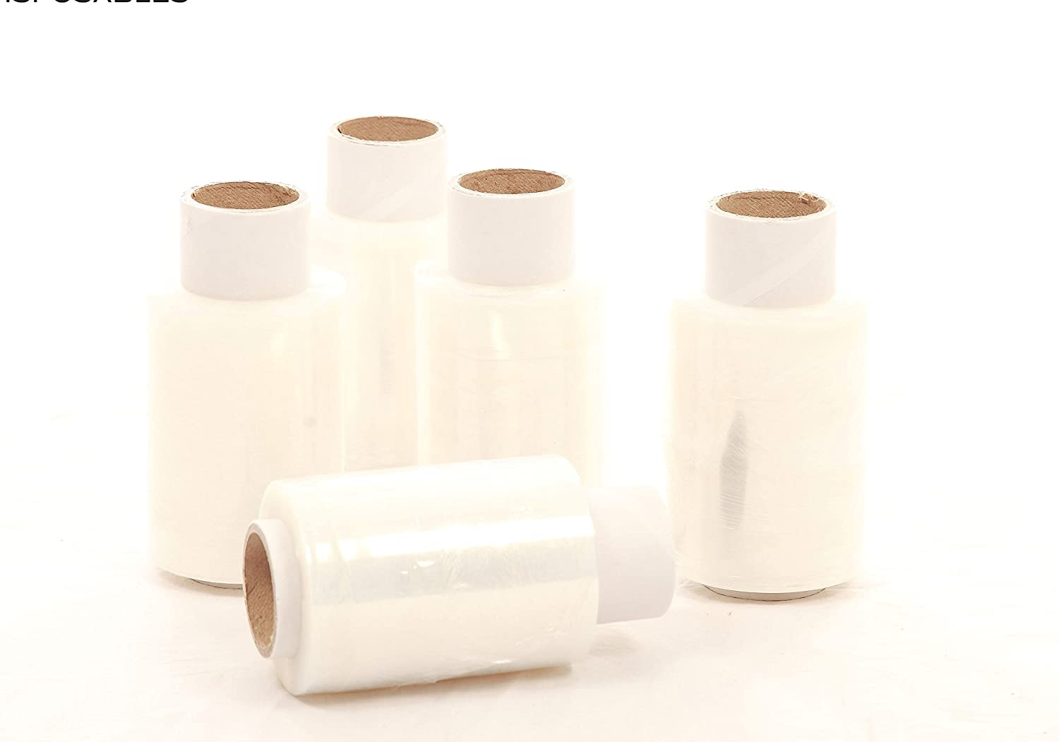 45 x ROLLS MINI STRETCH SHRINK FILM HANDY WRAP STRONG PACKAGING AND DISPOSABLES