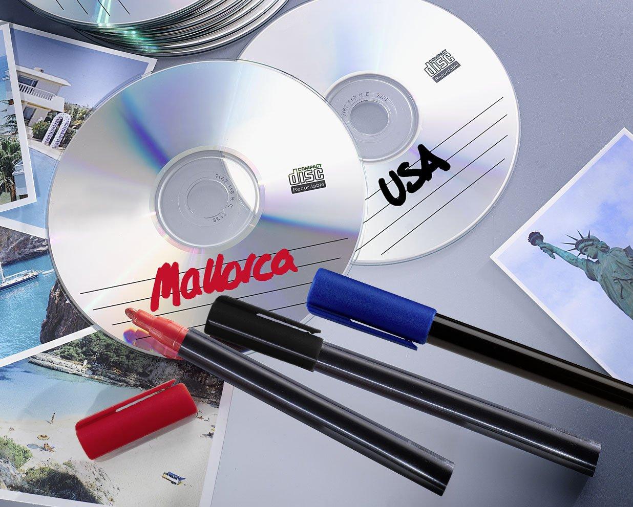 Wenko 5874050500 Universal de Marcador Juego de 3, Rojo/Negro/Azul ...