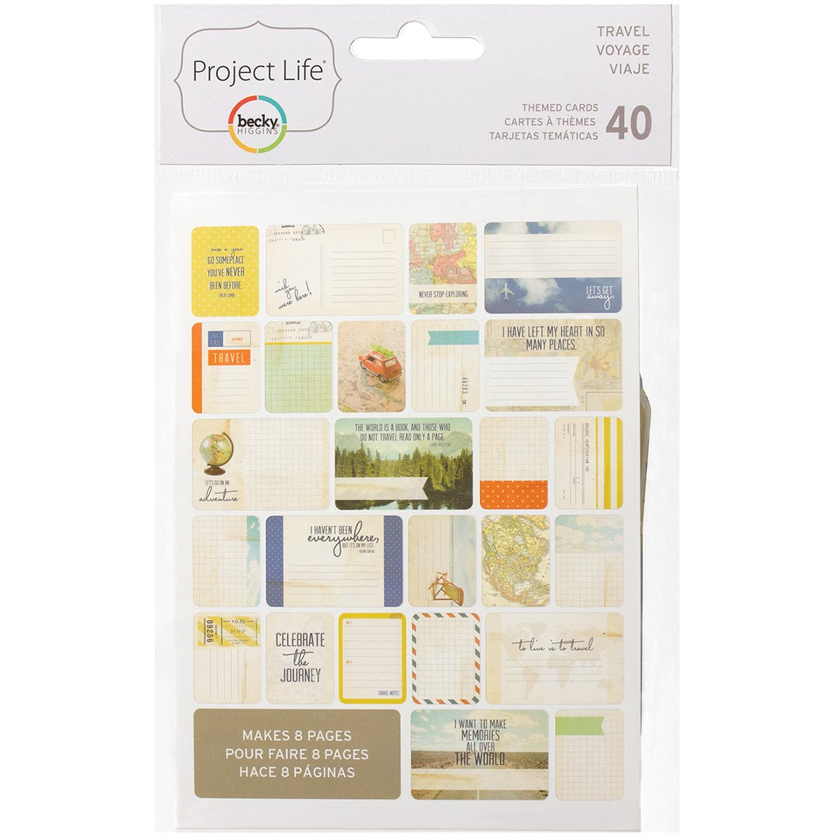 Project Life 718813977135 Themed Card, Travel unknown