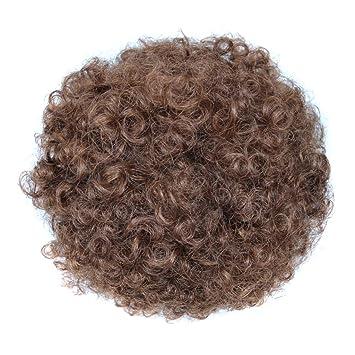 Amazon.com: Extensiones de pelo corto y rizado para coleta ...