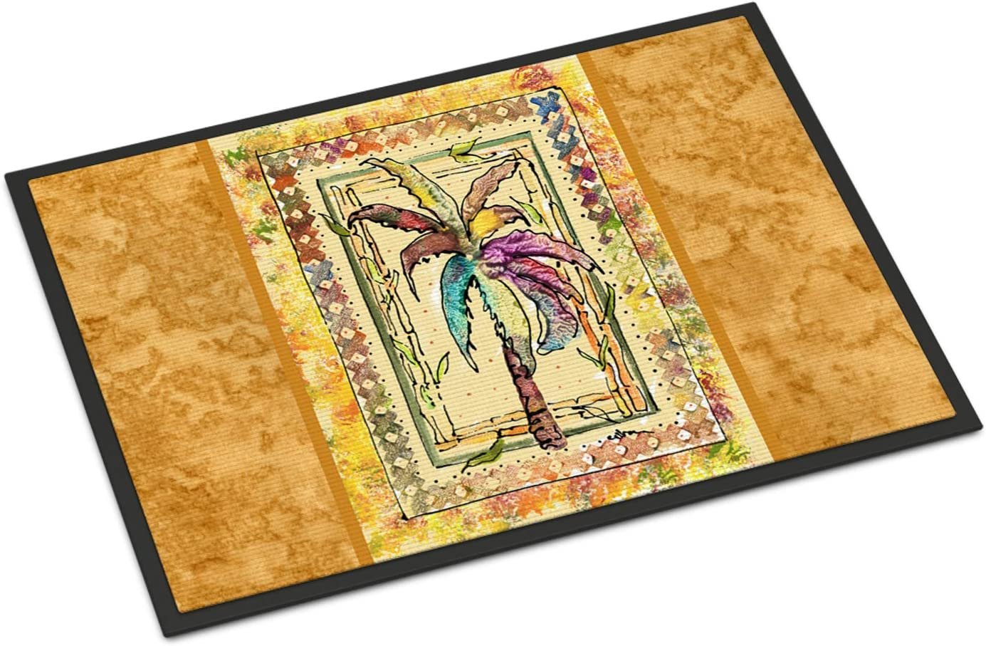Caroline s Treasures 8614JMAT Palm Tree Indoor or Outdoor Doormat, 24 x 36 , Multicolor