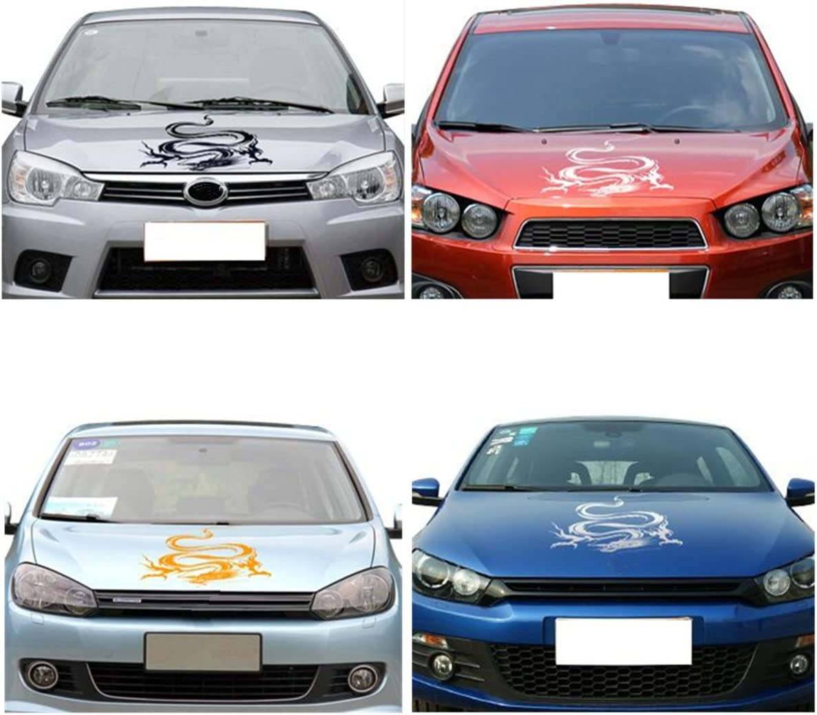Oda Dragon Totem Scratching Decal Car Stickers and Decals Vehicle Body Sticker Auto Body Styling Stickers Universal for Car Head Hood Modification Decoration
