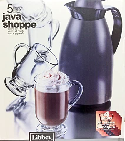 Libbey Java Shoppe 5 Piece Mug Set