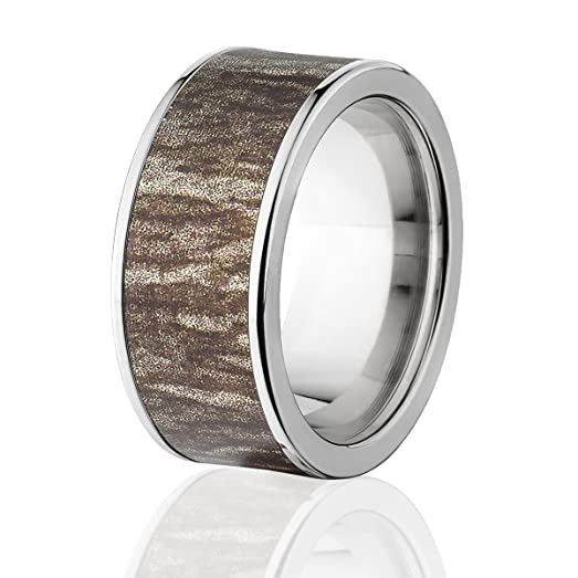 camo rings mens camo wedding bands mossy oak bottomland rings - Mossy Oak Wedding Rings