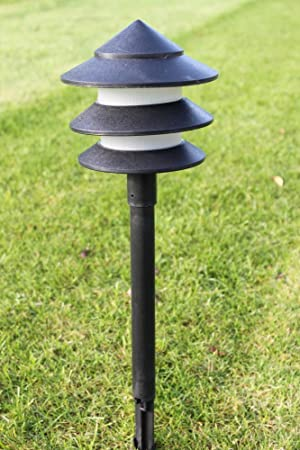 Garden Lighting   Set Of 6 Low Voltage Garden Pagoda Lights Complete With  Transformer And Cable