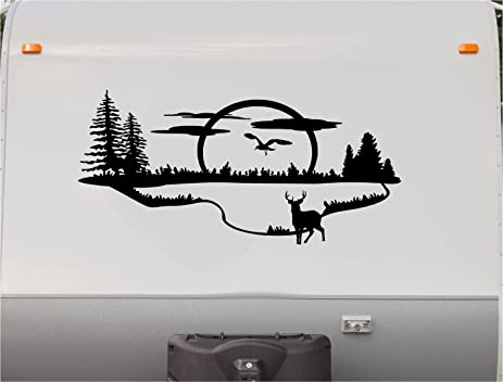 Mountains motorhome stripe kit lake rv stickers trailer stickers camper vinyl decal
