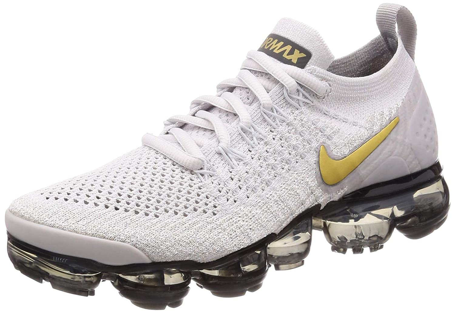 new product d7d50 a6973 Amazon.com   Nike Women s Air Vapormax Flyknit 2 Running Shoes (7,  Grey Gold)   Shoes