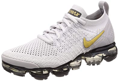 5f9a42fedf Nike Women's WMNS Air Vapormax Flyknit 2, VAST Grey/Metallic Gold, 6.5 US