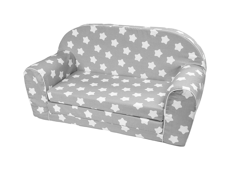 MuseHouse Kindersofa Kindercouch Kindersessel Sofa Bettfunktion Kindermöbel (0-3 Jahre) (S112)
