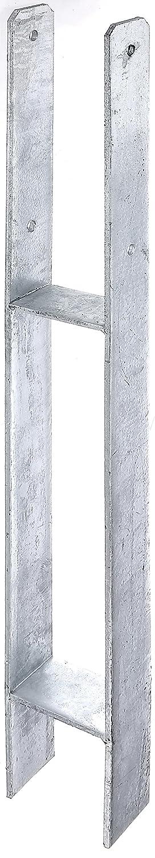 Materialst/ärke: 6 mm feuerverzinkt lichte Breite: 141 mm Gesamth/öhe: 600 mm GAH-Alberts 213893 H-Pfostentr/äger