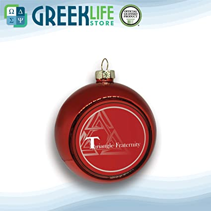 greeklife.store Triangle Fraternity Holiday Ornament Decorations (Set of  Five Holiday Balls) - Amazon.com: Greeklife.store Triangle Fraternity Holiday Ornament