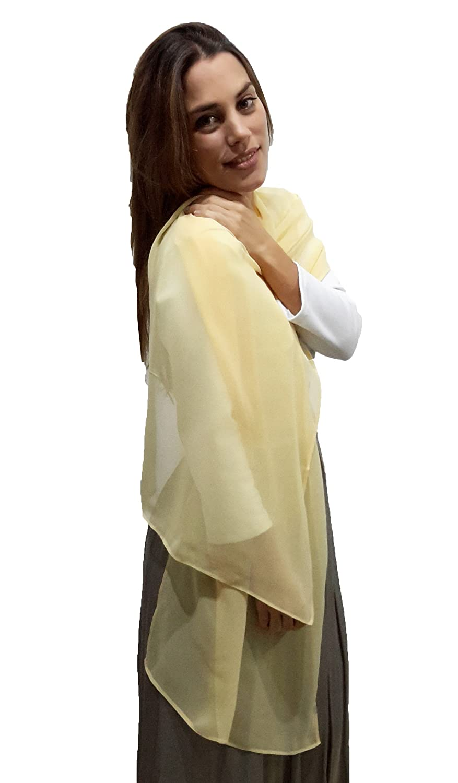 BRANDELIA Estolas Fiesta Mujer Novia Chal de Chifón Elegante para Vestidos de Fiesta, Amarillo: Amazon.es: Ropa y accesorios
