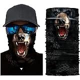 Stoota Lion Print Face Mask, Rave Bandana, Neck Gaiter, Scarf, Summer Balaclava for Dust Wind UV Protection