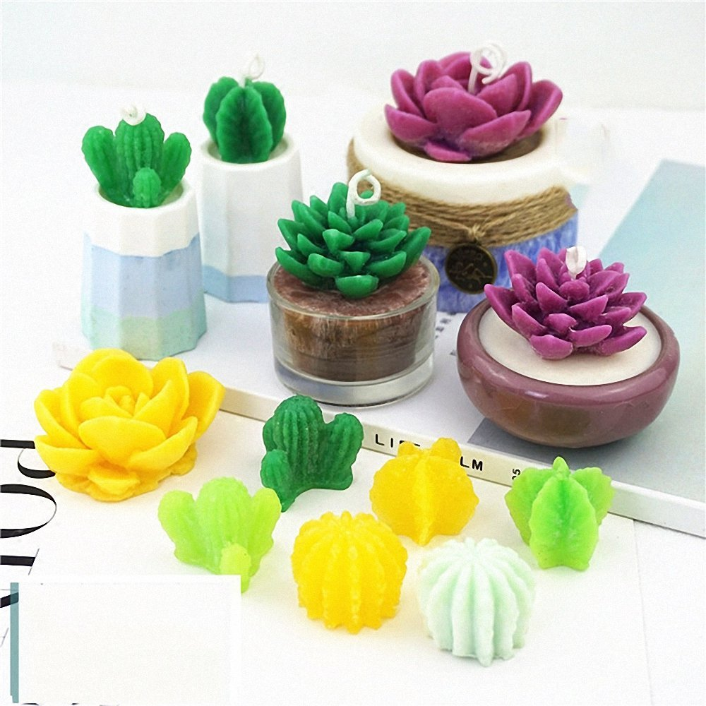 MoldFun 5-Pack Cactus and Succulent Plants Silicone Mold for Fondant Chocolate Candy Cake Decorating Candle Soap Lotion Bar Wax Crayon Melt Plaster Polymer Clay by MoldFun (Image #8)
