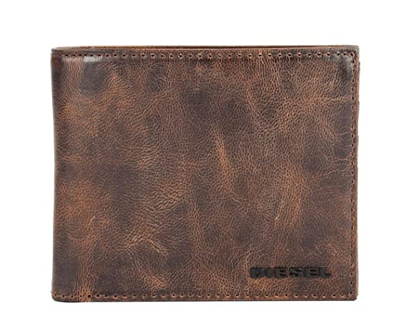 Diesel Mens small wallet in leather Hiresh S X05987 Brown ...