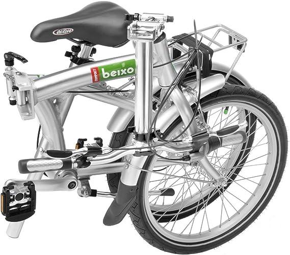 Beixo Bicicleta Plegable con cardan - Compact 7 Silver: Amazon.es: Deportes y aire libre