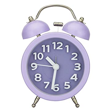 PiLife Silent Nicht Ticking Vintage Analog Quartz Wecker Clock Mit Round  Twin Bell, Desk