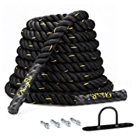 Deals on KingSo 30ft 1.5 Inch Heavy Battle Exercise Training Rope