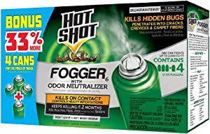 Hot Shot Indoor Fogger With Odor Neutralizer, 4/2-Ounce