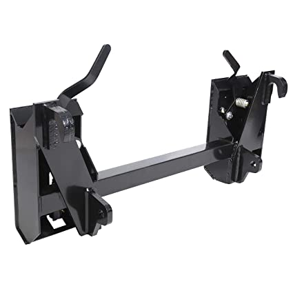 Amazon com: ECOTRIC Universal Style Quick Attach Skid Steer Adapter