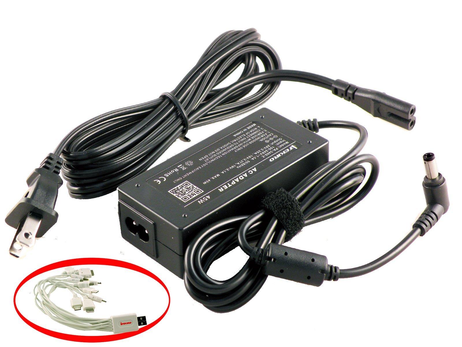 iTEKIRO AC Adapter for Toshiba CL15-B1300 L15W-B1302 L15W-B1310 L15W-B1320 P50-AST3NX1 P50W-BST2N01 P50W-BST2N23 P55 P55-A5200 P55-A5312 P55t P55t-A5116 P55t-A5118 P55t-A5202 P55W-B5112 P55W-B5220 P55W-B5224 P55W-B5318 P840 P840-ST2N01 P840T P840T-ST3N01