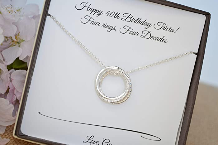 Amazon 40th Birthday Gift For Sister 4 Sisters Necklace